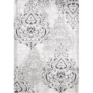 Find Abbate Venetian GrayWhite Area Rug By Fleur De Lis Living