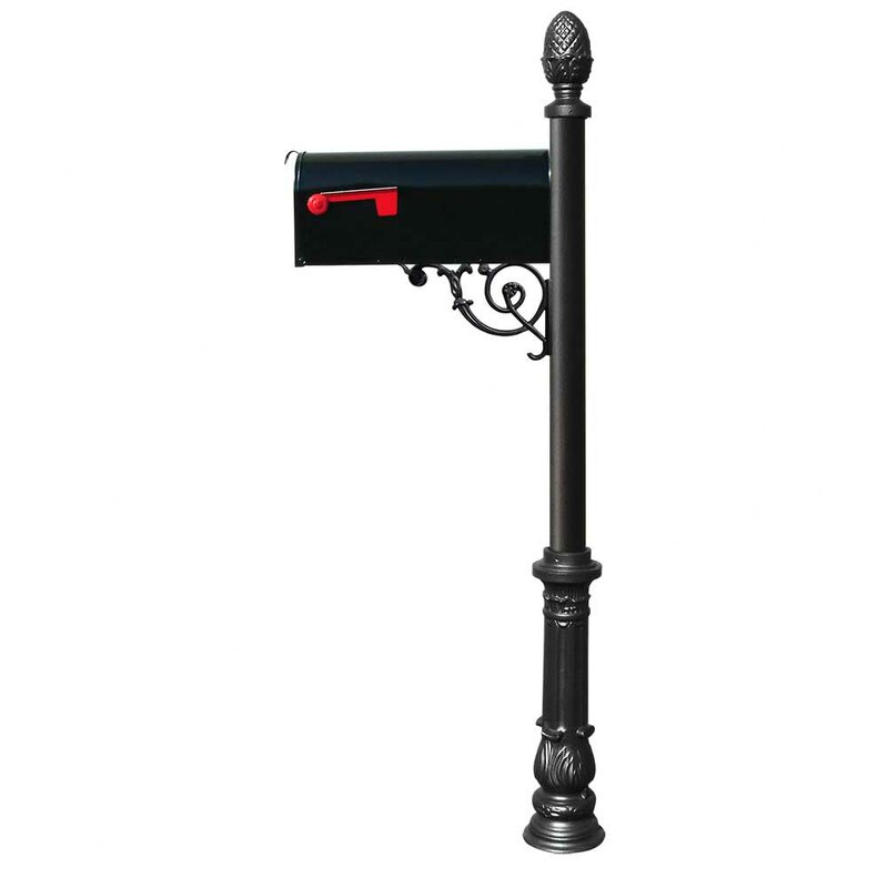 Qualarc Aluminum Locking Post Mounted Mailbox Wayfair