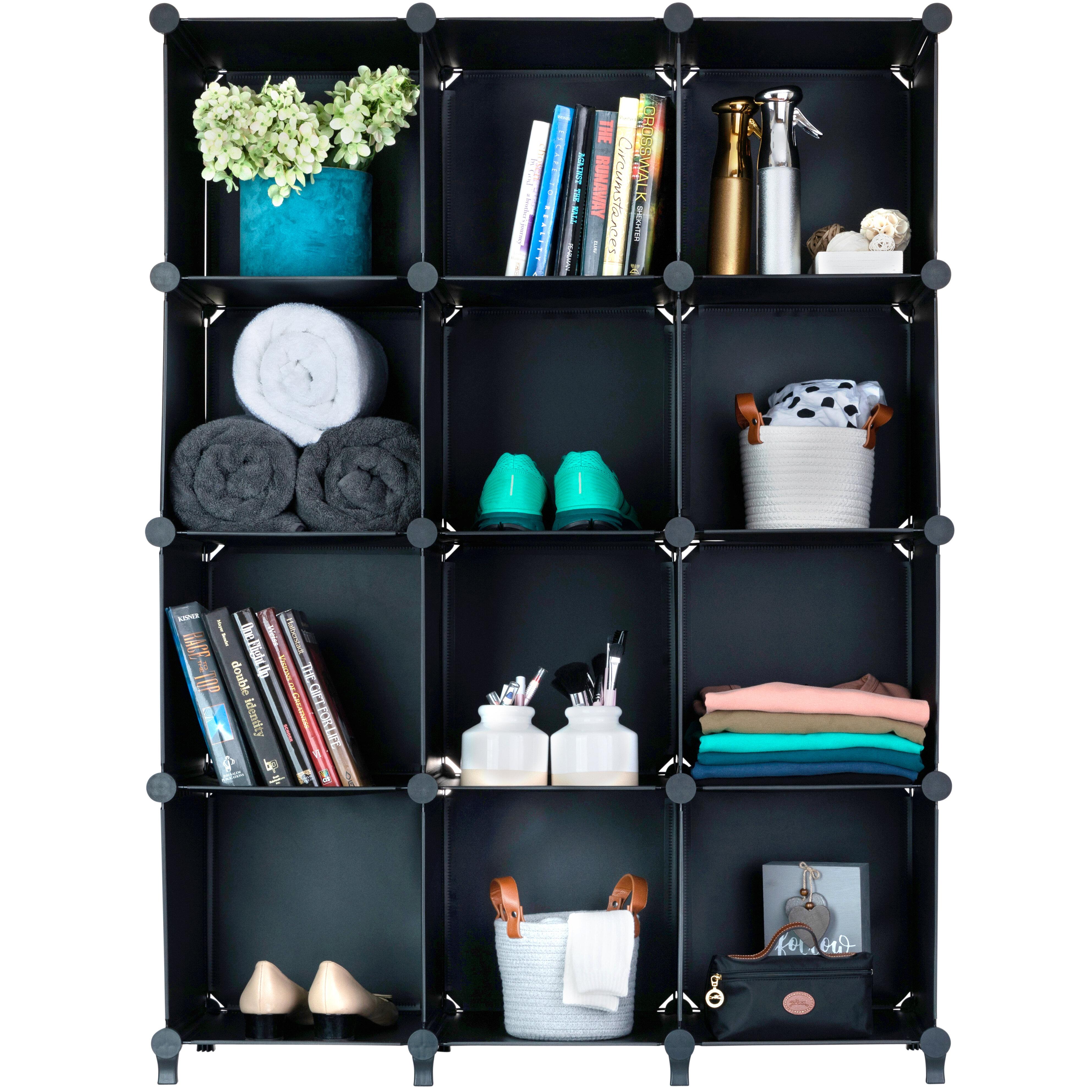 Rebrilliant Siefert 48'' H x 36'' W Metal Cube Bookcase & Reviews