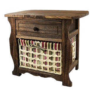Long Ashton Wood Storage 1 Drawer Nightstand