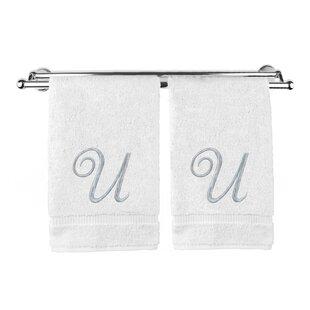 Monogrammed 100% Cotton Washcloth (Set of 2)