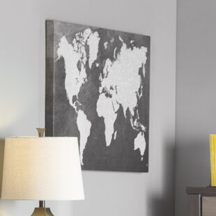 World map wall art save to idea board canvas black frame gumiabroncs Gallery
