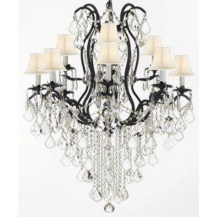 Astoria Grand Alvan 11-Light Shaded Chandelier