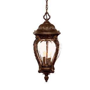 Charlton Home Pursell 3-Light Outdoor Hanging Lantern