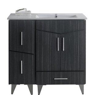 Sotera Modern Wood Floor Mount 36 Single Bathroom Vanity Set