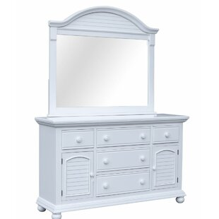 Kailyn 5 Drawer Combo Dresser with Mirror