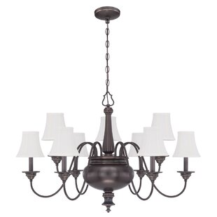 Embree 9-Light Shaded Chandelier by Charlton Home