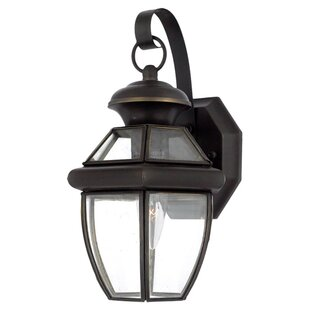 Compare & Buy Mellen 1-Light Incandescent Outdoor Wall Lantern (Set of 6) By Three Posts