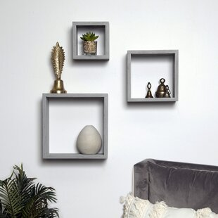 Bottoms Cube 3 Piece Wall Shelf Set