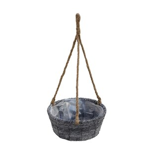 Hanging planters youll love wayfair ains basket with liner ropewood hanging planter workwithnaturefo