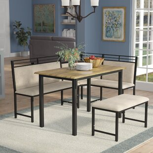 Moonachie Corner 3 Piece Dining Set by Re..