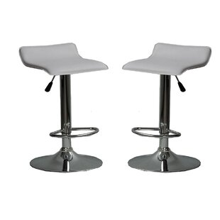 Park Avenue Adjustable Height Bar Stool (Set of 2) by Orren Ellis