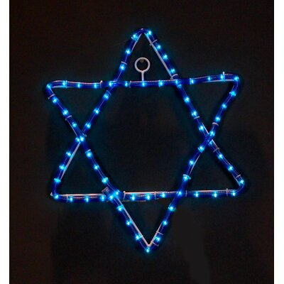 Jewish Star Rope Light The Holiday Aisle