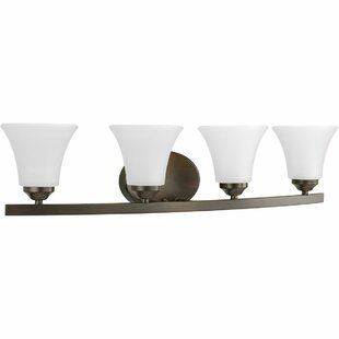Read Reviews Hilary 4-Light Metal Vanity Light By Fleur De Lis Living