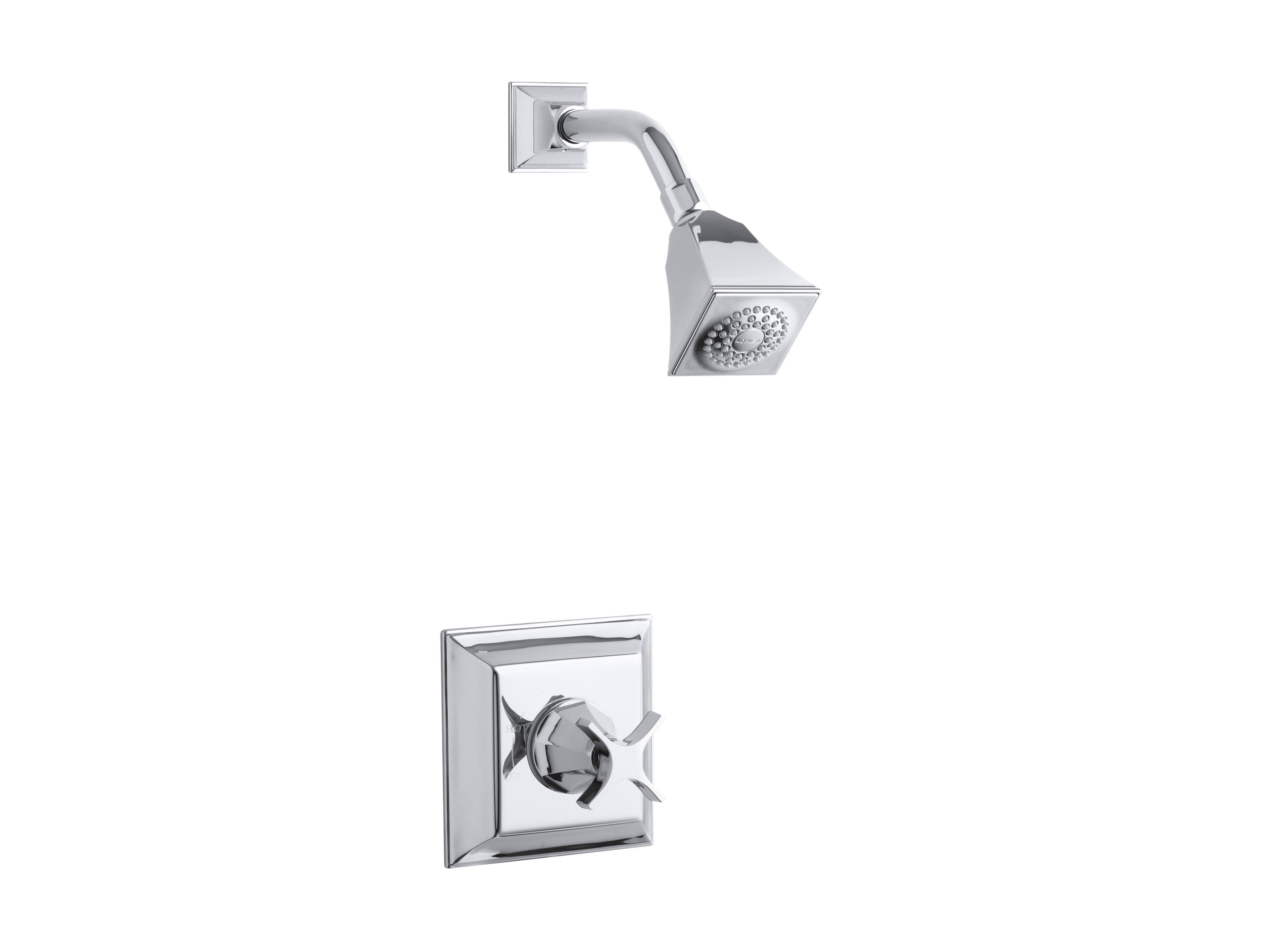 Memoirs Stately Rite Temp Pressure Balancing Shower Faucet Trim With Cross Handle Valve Not Included