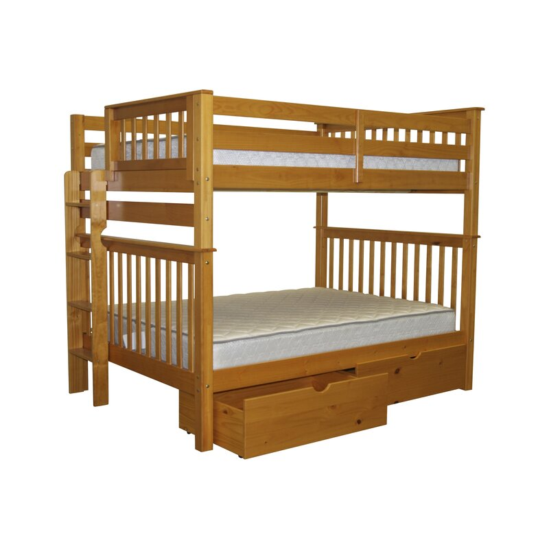 Harriet Bee Treva Full Over Full Bunk Bed With Storage Reviews