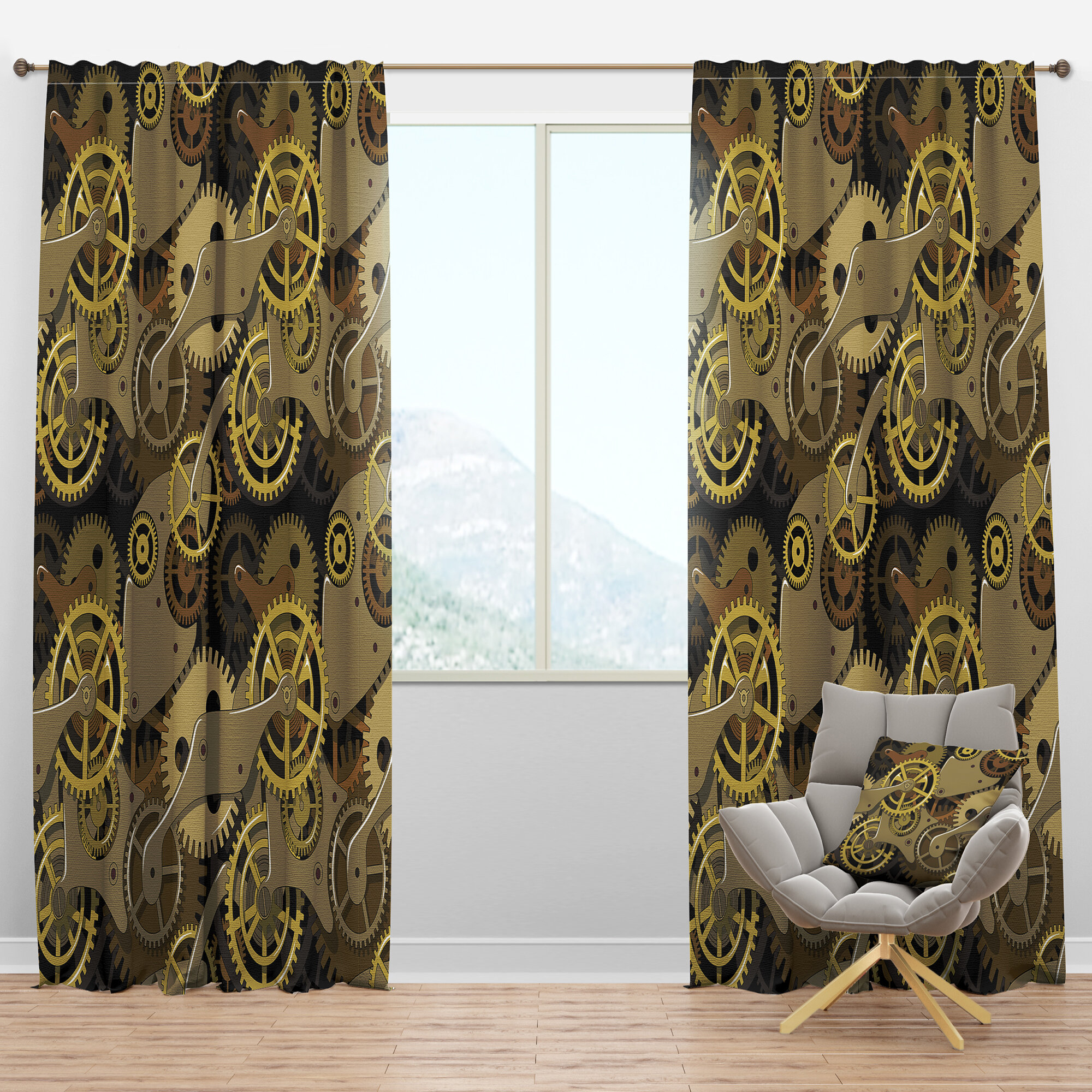 Industrial Semi Sheer Curtains Drapes You Ll Love In 2021 Wayfair
