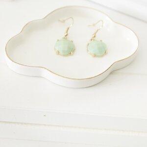 "4"" H x 4"" W Cloud Porcelain Jewelry Box"