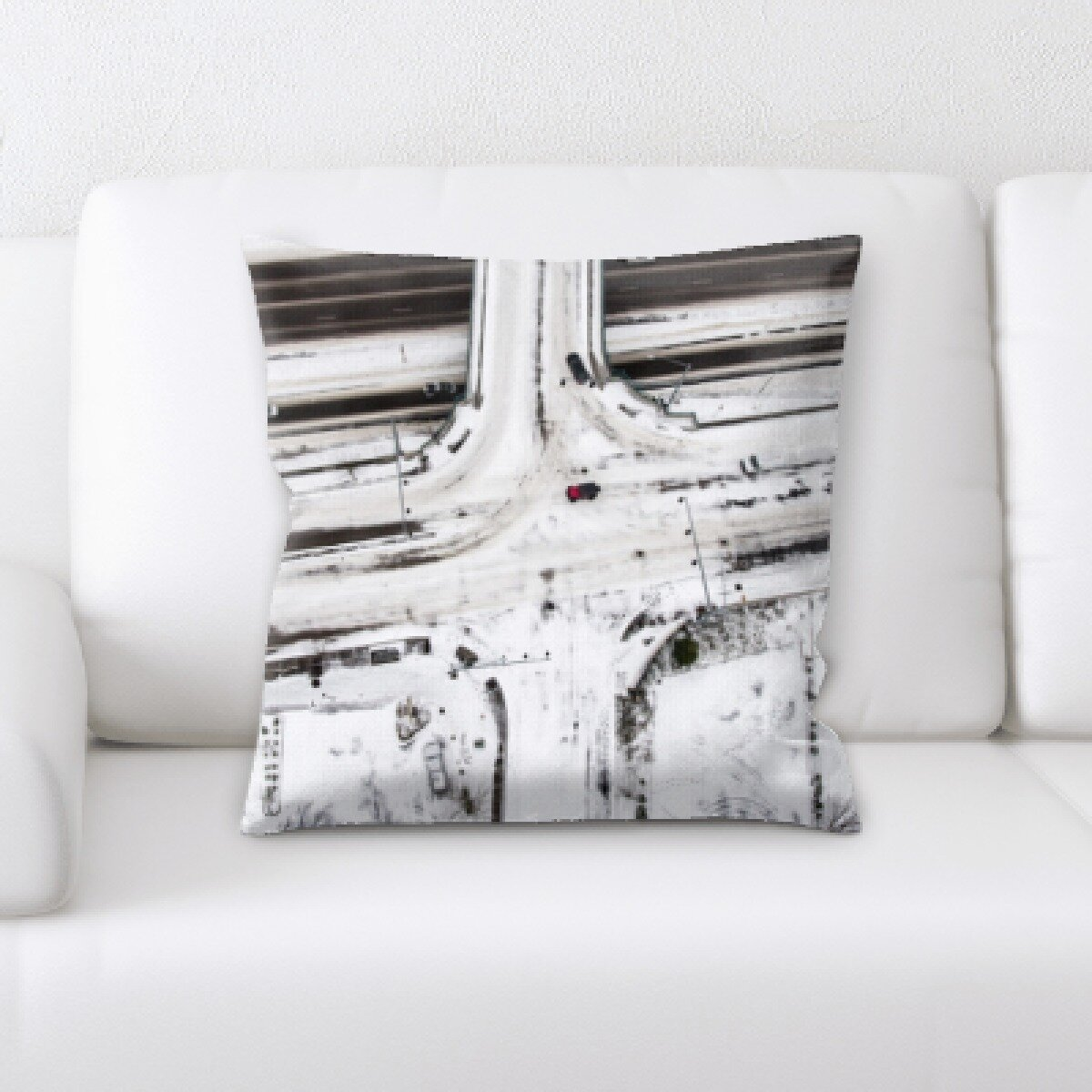 Rug Tycoon Flat Aerial Shots Throw Pillow Wayfair