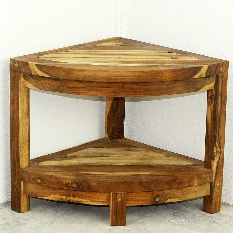 Lawless Thai Teak Corner End Table