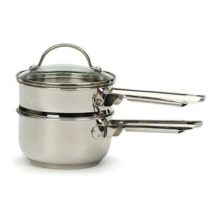 Cleckheat 1 Qt Induction Double Boiler With Lid
