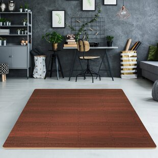 Find for Interlocking Wood Print Floor Mat (Set of 16) BySorbus