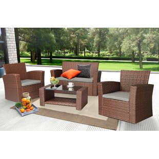 Brown Rattan U0026 Wicker Conversation Sets Youu0027ll Love | Wayfair
