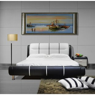 Latitude Run Bovina Upholstered Platform Bed