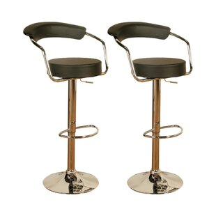 Height Adjustable Swivel  Bar Stool (Set Of 2) By Homestead Living