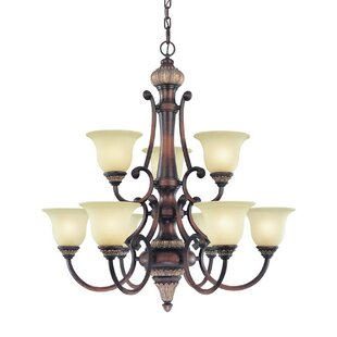 Dolan Designs Bonita 9-Light Shaded Chandelier