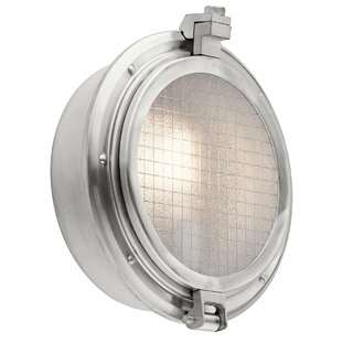 Breakwater Bay Bermudiana 1-Light Outdoor Flush Mount