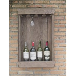 Roucourt Display Hold 4 Bottle Wall Mounted Wine Rack By Brambly Cottage