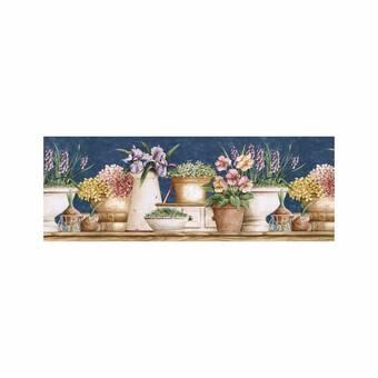 August Grove Lowes Floral 15 L X 10 25 W Wallpaper Border Wayfair