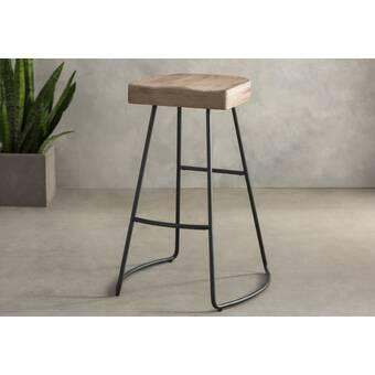 Awesome Brookshire Solid Wood Metal Counter Stool Set Reviews Creativecarmelina Interior Chair Design Creativecarmelinacom