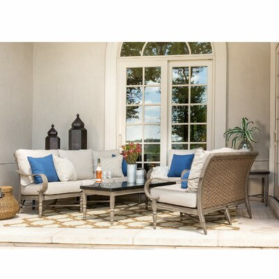 Saylor 6 Piece Seating Group with Cushions Canora Grey