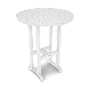 POLYWOOD® Round Outdoor Bar Table