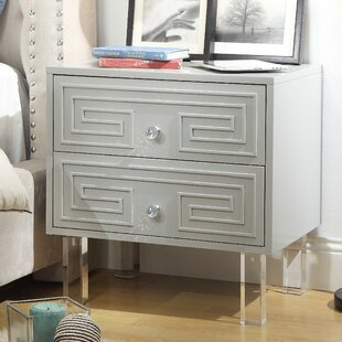 Beck 2 Drawer Nightstand by Everly Quinn
