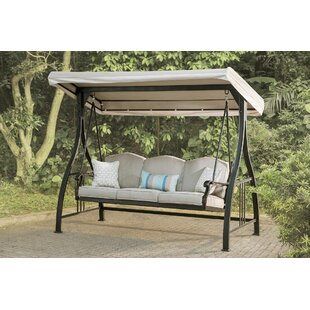 Alvan Porch Swing with Stand by Three Posts