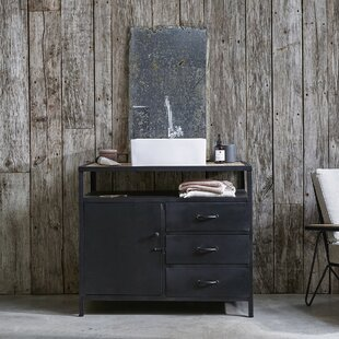 Industriel 95cm Free-Standing Under Sink Storage Unit By Tikamoon
