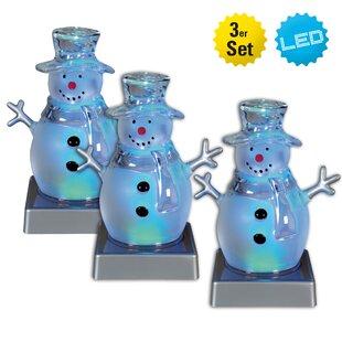 3 Light Blue/Grey Lamps (Set Of 3) Image
