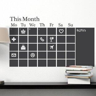 Ordinaire Chalkboard Calendar Black Wall Decal