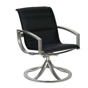 Metropolis Sling Swivel Patio Dining Chair