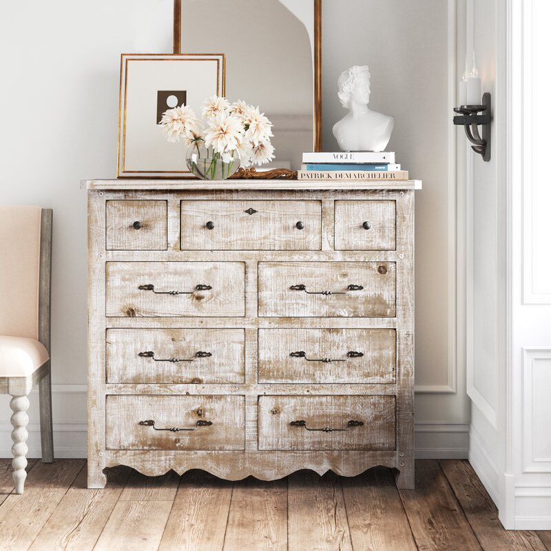 Lyra 9 Drawer Double Dresser