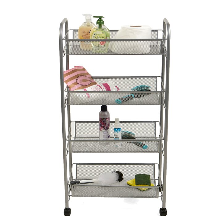 4 Tier Mobile Office Utility Cart