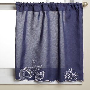 Embroidered Shell Kitchen Curtain Tier