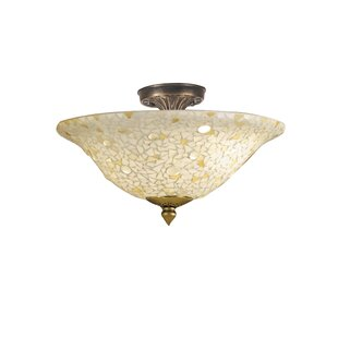 Brampt 3-Light Semi Flush Mount by Charlton Home