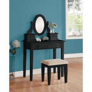 Red Barrel Studio Goslinga Elegant Vanity Set with Mirror