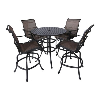 Kempf 5 Piece Bar Height Dining Set by Darby Home Co Savings