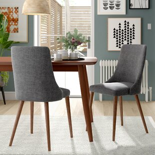 Doolin Mid-Century Upholstered Dining Chair (Set of 2) by Brayden Studio