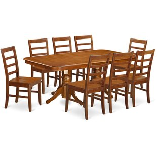 Pillsbury Contemporary 9 Piece Wood Dining Set August Grove